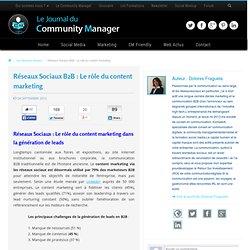 Réseaux Sociaux B2B : le rôle du content marketing