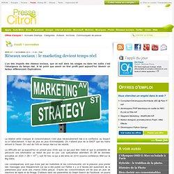 Réseaux sociaux : le marketing devient temps réel