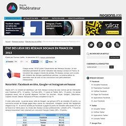 État des lieux des réseaux sociaux en France en 2013