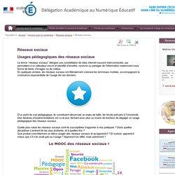 Réseaux sociaux - Réseaux sociaux - Innover avec le numérique - DANE Nice