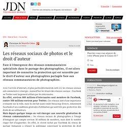 Les réseaux sociaux de photos et le droit d'auteur par Murielle Cahen - Chronique e-Business