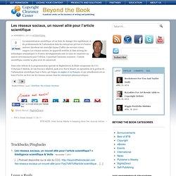 Les réseaux sociaux, un nouvel allié pour l'article scientifique