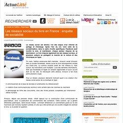 Les réseaux sociaux du livre en France : enquête de sociabilité