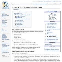 Réseaux TCP/IP/Les routeurs CISCO