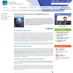 Jeux vidéo & réseaux sociaux : un tremplin pour la vie sociale des ados - Ipsos Observer