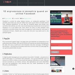 Réseaux sociaux : Vocabulaire Facebook