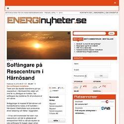 Solfångare på Resecentrum i Härnösand