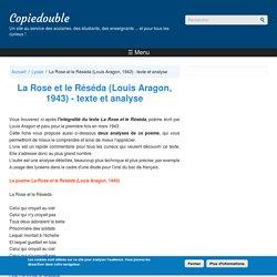 La Rose et le Réséda (Louis Aragon, 1943) - texte et analyse