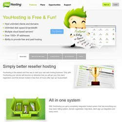 Reseller Hosting Features - Become a Web Hosting Reseller