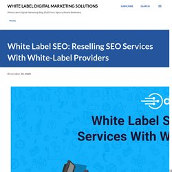 White Label SEO: Reselling SEO Services With White-Label Providers