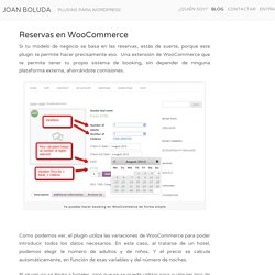 Reservas en WooCommerce