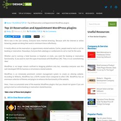 Top 10 Reservation and Appointment WordPress plugins