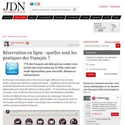 Réservation en ligne : quelles sont les pratiques des Français ? - JDN