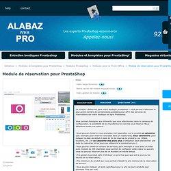 Module de réservation pour PrestaShop - Tiendas Virtuales Alabaz