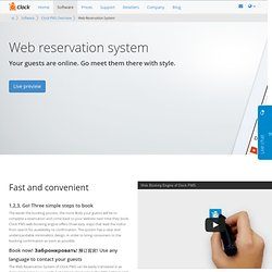 Clock PMS web reservation system - online booking engine for hotels