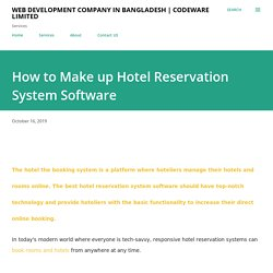 How to Make up Hotel Reservation System Software