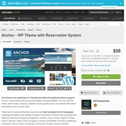 WordPress - Anchor - WP Theme with Reservation System