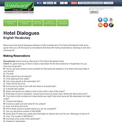 Hotel Dialogues in English - Reservation, Check-in, Check-out vocabulary