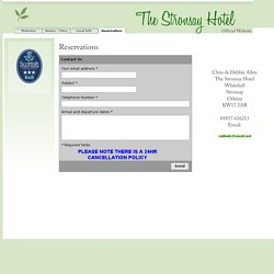 Reservations - The Stronsay Hotel Accommodation Official Website