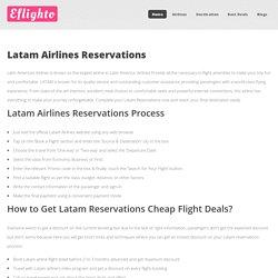 Latam Reservations