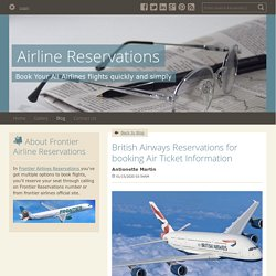 British Airways Reservations for booking Air Ticket Information - Airline Reservations : powered by Doodlekit