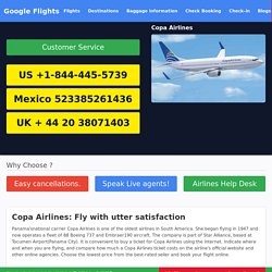 Get the important Copa Airlines Reservations information through Copa Airlines Phone Number