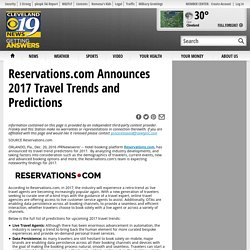 Reservations.com Announces 2017 Travel Trends and Predictions - Cleveland 19 News Cleveland, OH