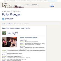 Réserver un restaurant en français - Débutant