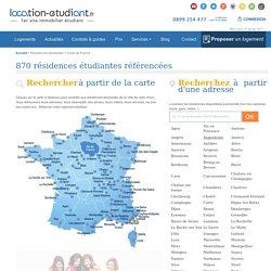 Trouvez et réservez votre logement parmi 871 résidences étudiantes en France