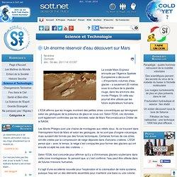 Un énorme réservoir d'eau découvert sur Mars