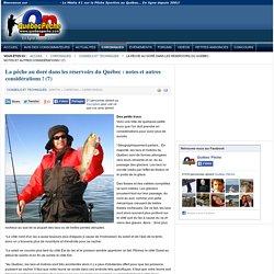 Québec Pêche - La pêche au doré dans les réservoirs du Québec : notes et autres considérations ! (7)