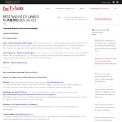 Réservoirs de livres numériques libres – Doc'Toulouse