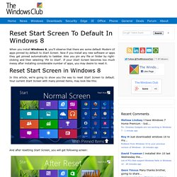 Reset Start Screen To Default In Windows 8