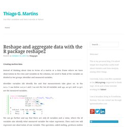 Reshape and aggregate data with the R package reshape2
