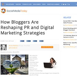 How Bloggers Are Reshaping PR and Digital Marketing Strategies