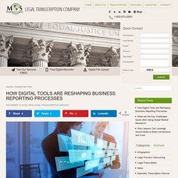 How Digital Tools are Reshaping Business Reporting Processes