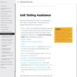 Unit Testing Assistance