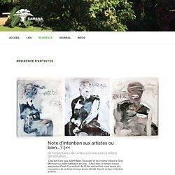 RESIDENCE d'ARTISTES – Samana Gwada