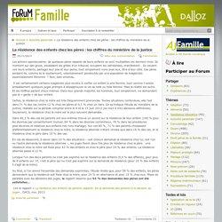 La résidence des enfants chez les pères : les chiffres du ministère de la justice