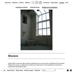À propos - Résidence de Lindre-Basse - CENTRE D'ART CONTEMPORAIN LA SYNAGOGUE DE DELME
