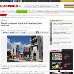 Première résidence étudiante à énergie passive à Toulouse - Chantiers