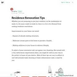 Residence Renovation Tips – Medium