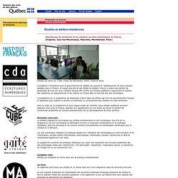 Résidences de recherche et de création en arts numériques en France