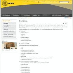 Residencias UDEM - Servicios