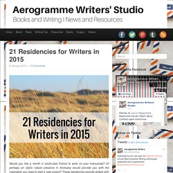 Aerogramme Writers' Studio21 Residencies for Writers in 2015