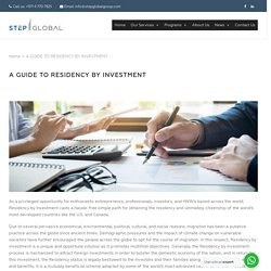 A Guide To Residency by Investment