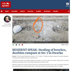 RESIDENT SPEAK: Stealing of benches, dustbins rampant at Sec 7 in Dwarka