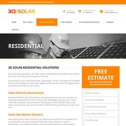 Residential - 3D Solar Energy
