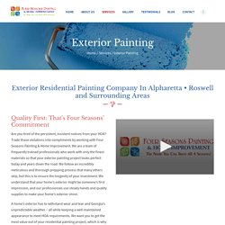 Exterior Residential Painting Company In Alpharetta