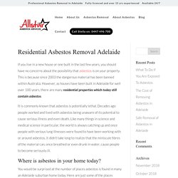 Residential Asbestos Removal Adelaide